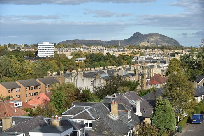 Arthurs Seat Edinburgh View From The Window... View