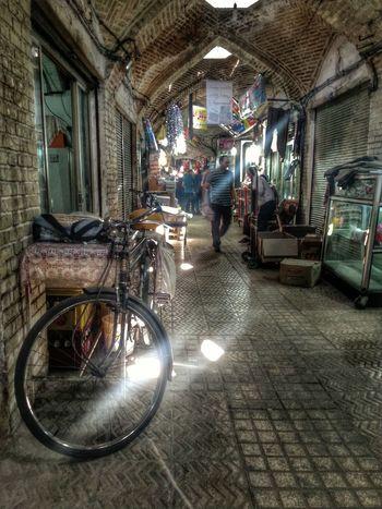 Iran Zanjan Bazaar Street Photography Tourist Mobail Photo Bicycle LG G4