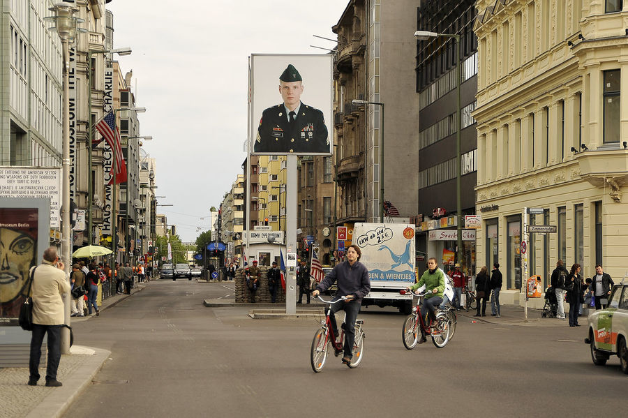 Berlin Deutschland Europe Germany Outdoor Outdoor Photography Outdoors Bike Daylight People Checkpoint Charlie  Checkpointcharlie Street Capture Berlin