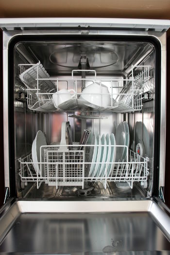 Close-up of dishwasher