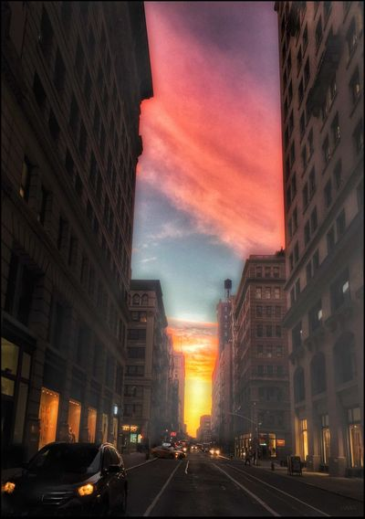 Sunrise on 17th St. - 10/13/16 As I Sees It Building Exterior City Life City Street EyeEm StreetPhotography, NYC Fresh On Market October 2016 IPhone Edits W/ Snapseed Malephotographerofthemonth The Journey Is The Destination The Way Forward