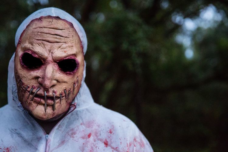 Horror Spooky Halloween Outdoors Close-up Nightmare Scary Scary Face Fear Death Zombie Halloween Horrors Halloween Face Torture Painful Mute Headshot Evil Nightmare