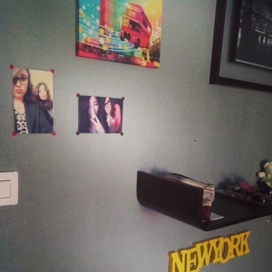 On the wall in my bedroom. Ju Lou Love Bestfriends pictures of the wall bedroom newyork london