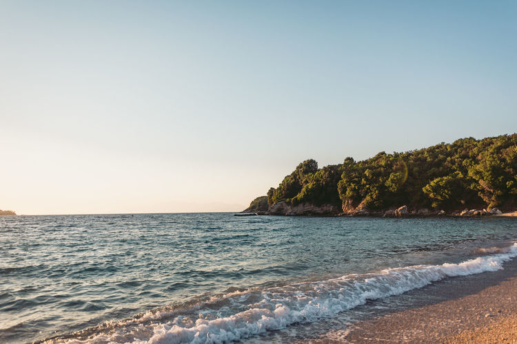 Lost In The Landscape Beach Beauty In Nature Clear Sky Day Horizon Over Water Nature No People Outdoors Sand Scenics Sea Sky Sunset Tranquil Scene Tranquility Travel Destinations Water Wave