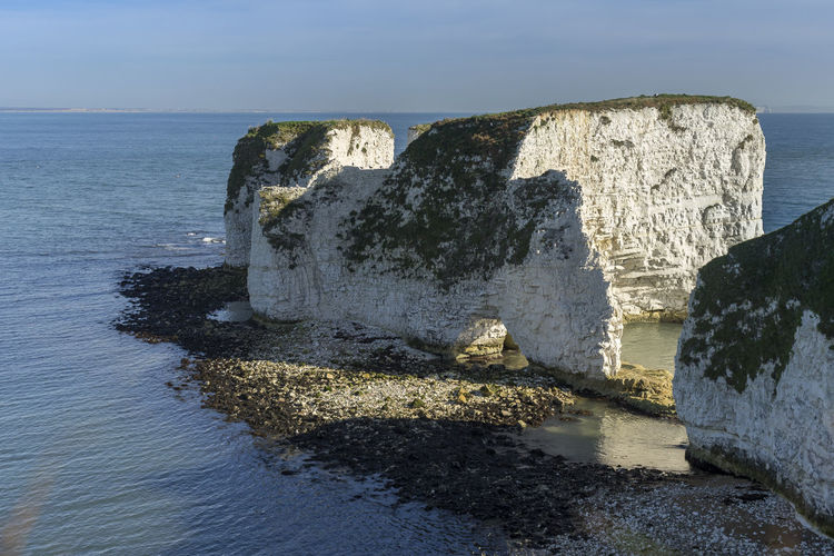 Old Harry Rocks, Studland, Dorset, UK Dorset Rock Formation Beauty In Nature Day,sea Horizon Over Sea No People Old Harry Rocks Outdoors Rocks And Sea Rocks And Water Scenics Sea Sky Tranquil Scene Tranquillity Water
