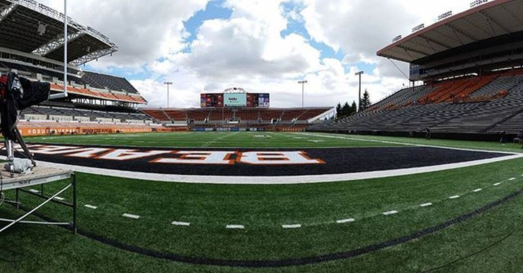 Collegefootball 1 day away.... SetDay making Tvmagic at OregonState BeaverNation great to be back with our FootballFamily