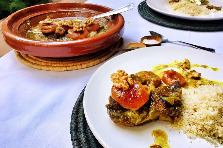 Morrocan Food Homemade Food Lamb Tajine