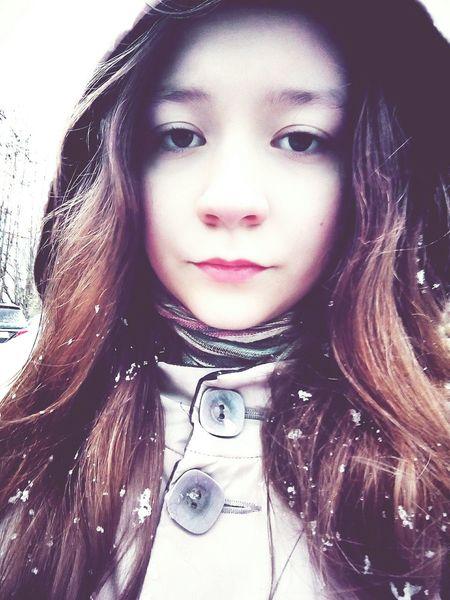 Selfie ✌ Eyeemphotography Beautiful Pretty Winter Snow ❄ Self Portrait Selfie ♥ EyeEm Gallery Follow Great