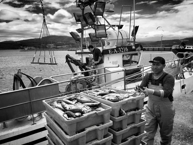 Cloud - Sky Day Food Food And Drink Front View Lifestyles Men Mode Of Transportation Nature Nautical Vessel Occupation One Person Outdoors Real People Sea Sky Standing Transportation Water