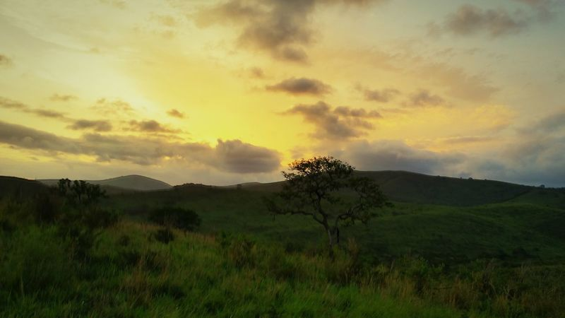 African Sky night game drive in Hluhluwe game reserve - stunning sunset