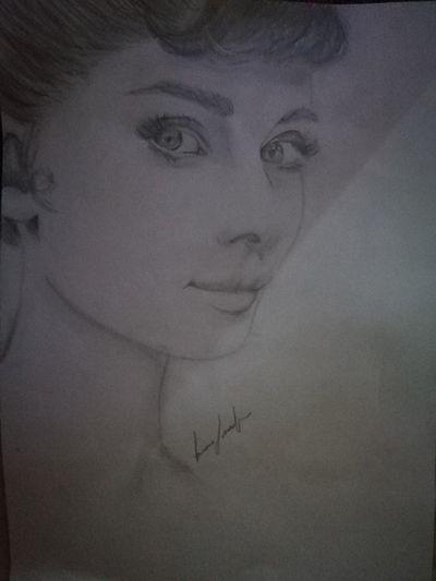 Ritratto Audrey Hepburn Ritratto, Portrait Matitabiancoenero Beautiful Woman Beauty Human Face