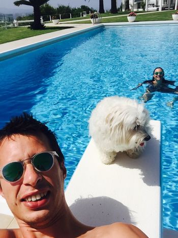 Holidays ☀ Pool Time Ilovemydog Myprincess🐶🐶 Isis😍 IPhoneography Hello Sunshine My Love ❤ Peace And Quiet