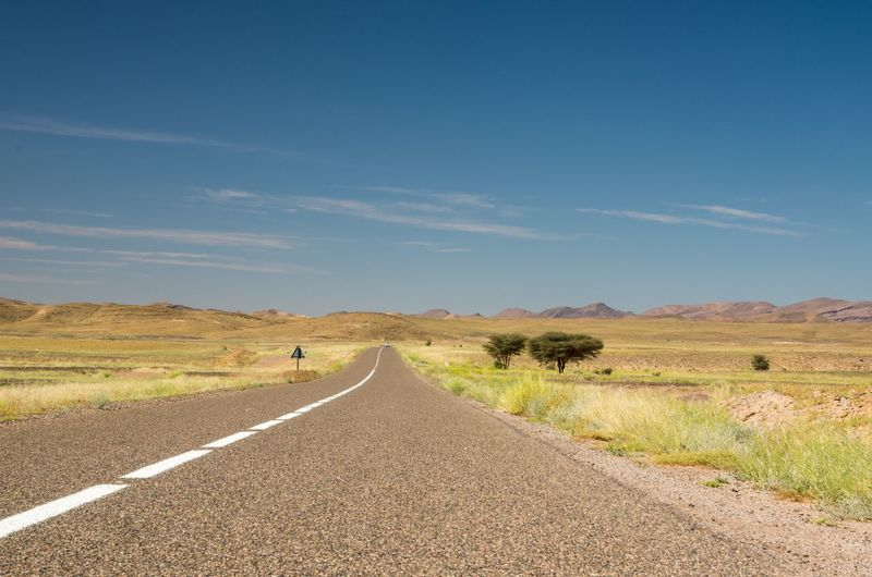 Africa Blue Country Road Countryside Diminishing Perspective Empty Road Horizon Over Land Landscape Remote Road The Way Forward Tranquil Scene Tranquility