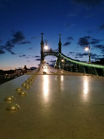 City Sky Night Architecture Outdoors Water Bridge - Man Made Structure Architecture Built Structure Cloud - Sky Hungary Budapest - Hungary City River Building Exterior HuaweiP9 Budapest B Battle Of The Cities Tourism Destinations Tourist Destination Tourism Destination Danube Danube In Budapest