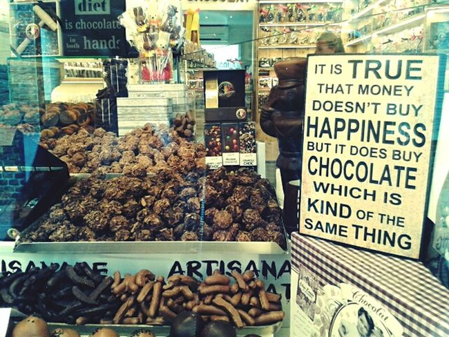 Chocolate lover ♥ Outdoors Food Variation For Sale Chocolate Happiness Sweet Food Sweets Chocolatelover Cioccolato Quotes Funny Quotes Quoteoftheday Chocolate Time Chocoholic Brugge Bruges Belgium Belgique Shop Chocolate Shop Tasty Delicious EyeEm Food Lovers Belgian Chocolate