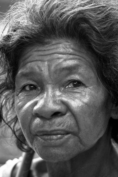 Nanay Aetas Aeta Indigenous People Indigenous Woman Portrait Of An Indigenous Woman The Portraitist - 2018 EyeEm Awards Wrinkled Crumpled Eyebrow Only Senior Women One Senior Woman Only
