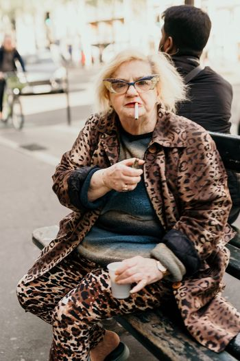 Lifestyles Women Adult Winter Leisure Activity Warm Clothing The Art Of Street Photography Real People Clothing Glasses People Incidental People Females Looking Away Fashion Outdoors The Art Of Street Photography