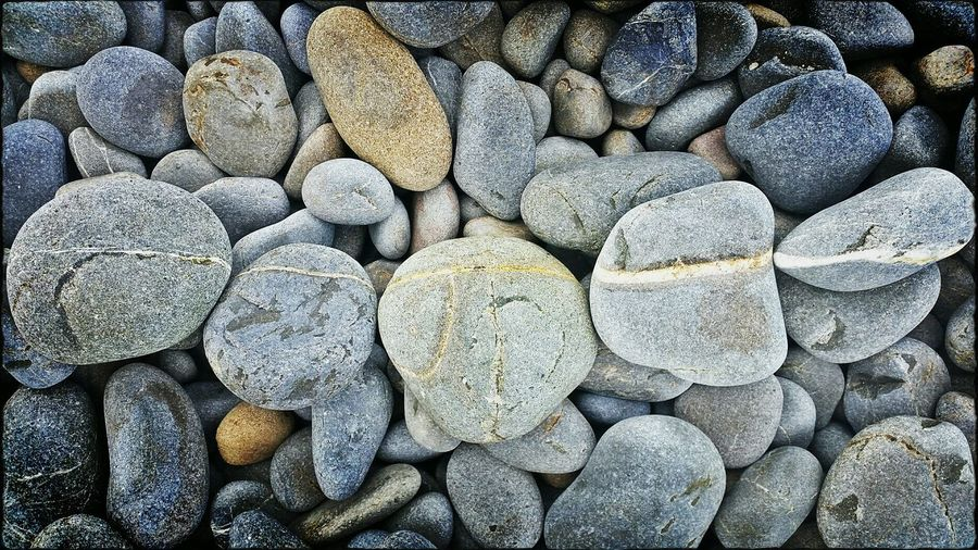 Rocks Pebbles And Stones Line Up