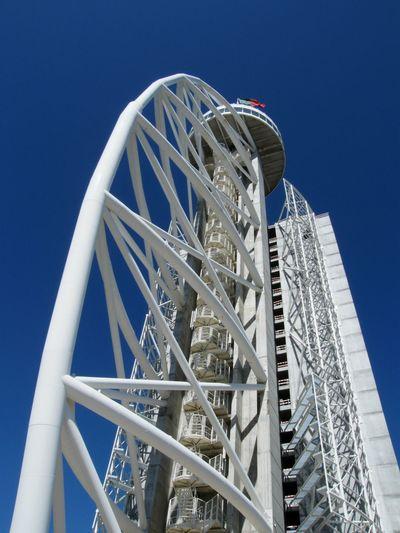 The tower. Renewal Blue Sky Height Lisbonn Portugal