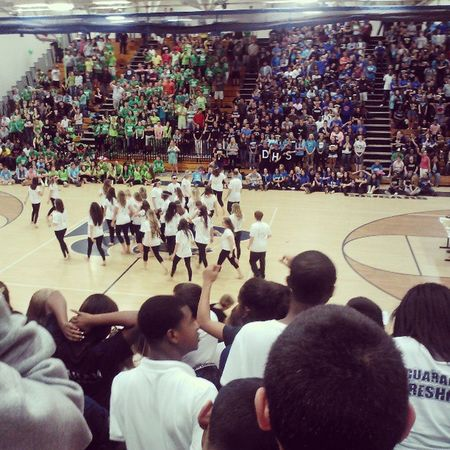 Pep rally today! And props to us Freshmen winning the Spirit Stick for once! Pep rally Highschool Freshmen Durant