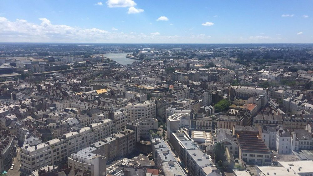Nantes ❤️ Cityscape Architecture Building Exterior Aerial View Sky City Day No People Horizon Over Water