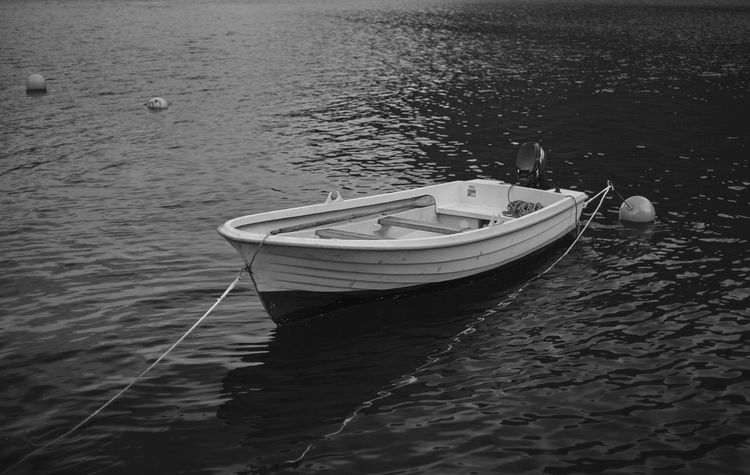 Black & White Boat Fjord Nature No People Outdoors Rippled Transportation Water