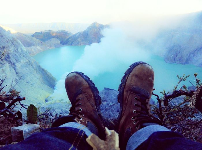 MyShoes SO COLD Hello World Ijen Crater Bluefire Landscapes With WhiteWall