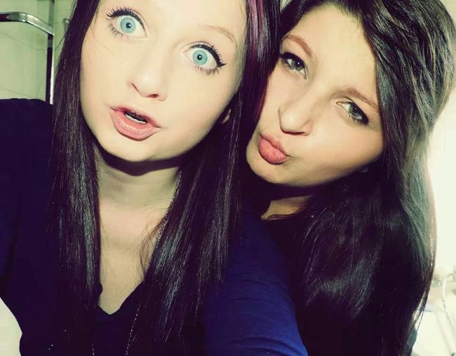 Me And My Friend Blue Eyes Just Chillin' Love You So