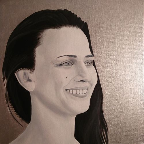 pilipa_ldz/instagram - My latest painting commission art for Karolina's Birthday. 30cm x 30cm Acrylic box canvas with silver background. Only Women One Woman Only One Person Human Face Portrait Beautiful Woman Young Women Acrylic Art Acrylic Painting Maidstone, Kent, UK Acrylic On Canvas ACRYLICART Acryliconcanvasart Canvas Art Painting Art Pilipa Portrait Of A Woman Portraits Of EyeEm
