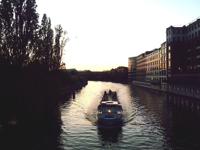 Spree River Spree At Night Travel Sunset In Berlin Europe
