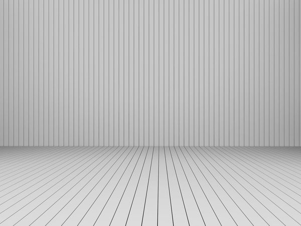 3D Rendering modern white slats wall and floor, interior illustration, mock up Architecture Backgrounds Brushed Metal Close-up Corrugated Iron Day Empty Room Indoors  No People Pattern Slats Textured  White