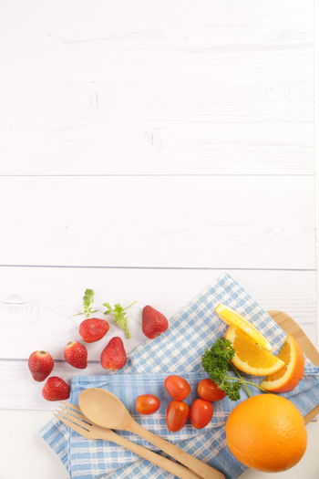 Background Background Backgrounds Culinary Culinary Arts EyeEm Gallery Food Food And Drink Food Photography Food Porn Foodie Foodism Freshness Fruits Healthy Lifestyle Kitchen Art Kitchen Life Kitchen Stories No People Orange Strawberry Table Setting Tomato White Table Wooden Spoon Wooden Table
