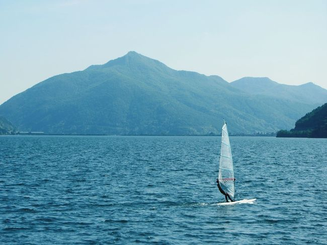 Summer activities in the cold weather. Eurotrip2014 Switzerland Holiday Lago Di Lugano