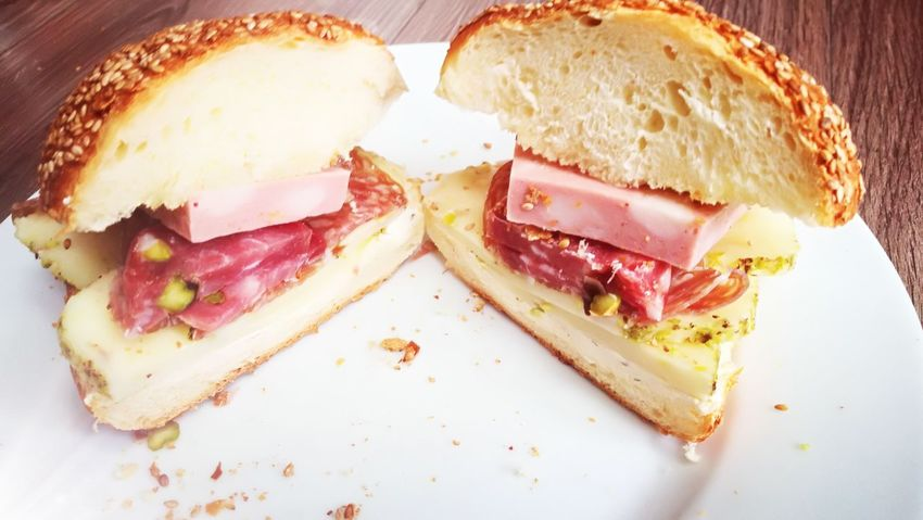 Italienfood Siciliano Sicilianosono Siciliabedda Italian Sicilianfood Pannini EyeEm Selects Toasted Bread Sandwich SLICE Plate Bread Close-up Food And Drink