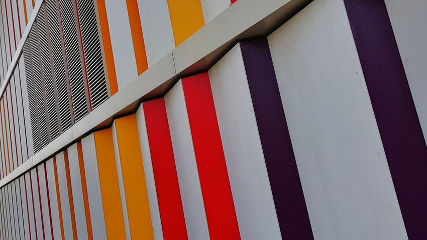 Architecture Built Structure No People Day Outdoors Multi Colored Close-up Architecture Modern Wall Colorful Colors Background Pattern Color Swatch Full Frame Weiterstadt