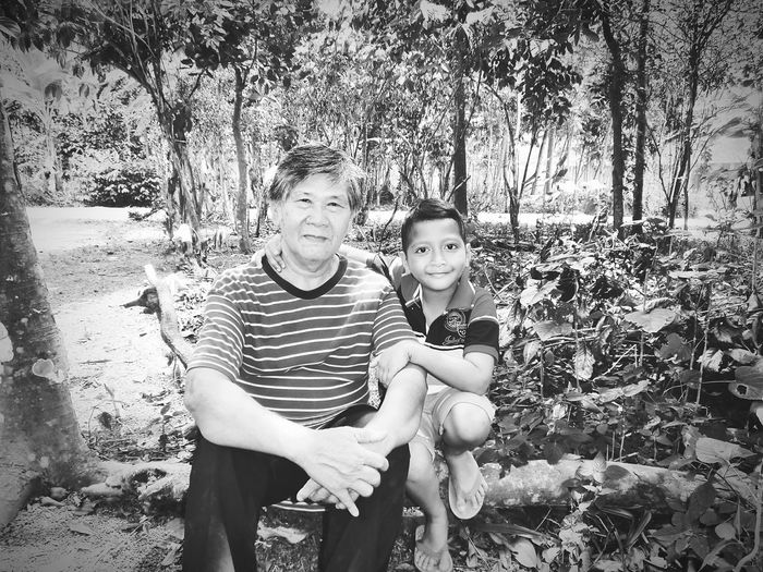 Monocrome Design Black And White Taking Photos MyFather MyFamily Love Them Always. Every Picture Tells A Story Fatherandgrandson