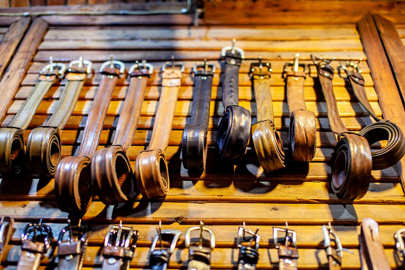 Leather Arts Culture And Entertainment Belt  Close-up Hand In A Row Large Group Of Objects Leather Belt Leather Craft Leathercraft No People Repetition Selective Focus Still Life