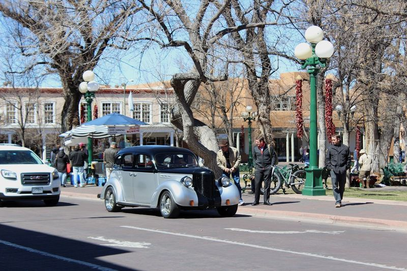 Drive by Town City Retro Cars Transportation Mode Of Transportation Motor Vehicle Street Car City Architecture Outdoors Nature City Street Road Land Vehicle Real People Tree