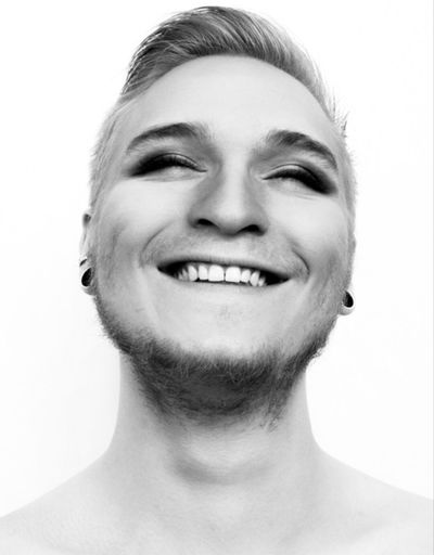 Portrait Black And White Happy