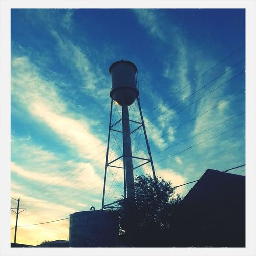 Panhandle Skies Fall Mornings Water Tower Sunrise
