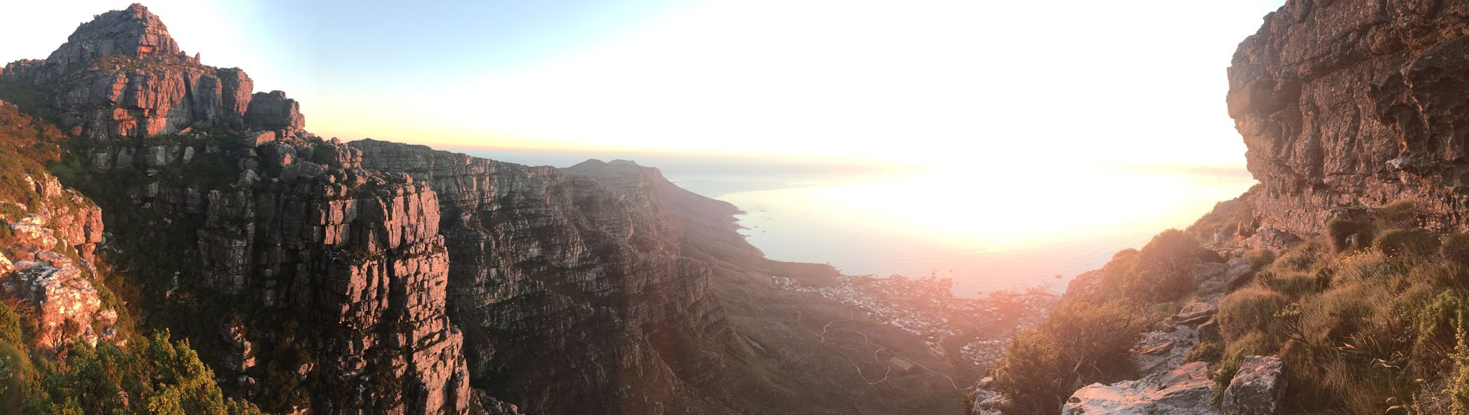 Tablemountain Tafelberg South Africa Original Panorama Sunset