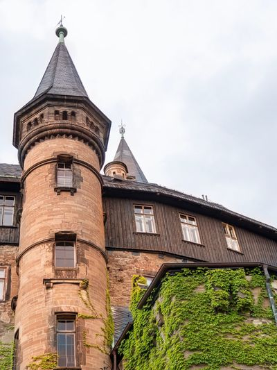 Schloss Wernigerode Architectural Column 19th  German Castle Castle Built Structure Architecture Building Exterior Sky Building Low Angle View History Nature Tower Place Of Worship
