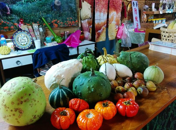 Vegetables Taiwan Food Multi Colored Variation No People Food And Drink Travel Healthy Eating Indoors  Day Freshness Colorful Market Stall For Sale Country Country Life Pumpkin Warm Warm Colors Nature ASIA Hualien, Taiwan