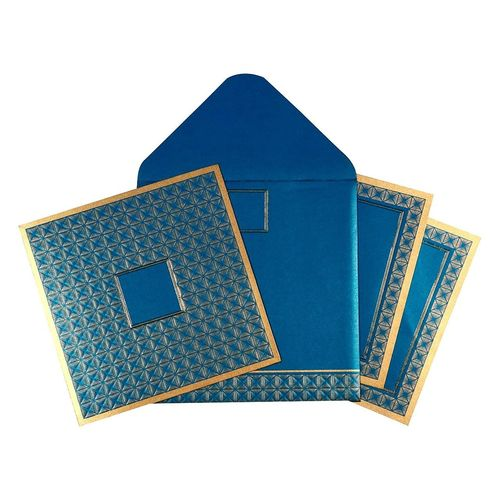 Stylish Blue Christian Wedding Invitation | C-1639 | 123WeddingCards 123WeddingCards Affordable Wedding Invites Cheap Wedding Invitations Christian Wedding Cards Christian Wedding Invitations Wedding Invitation Cards