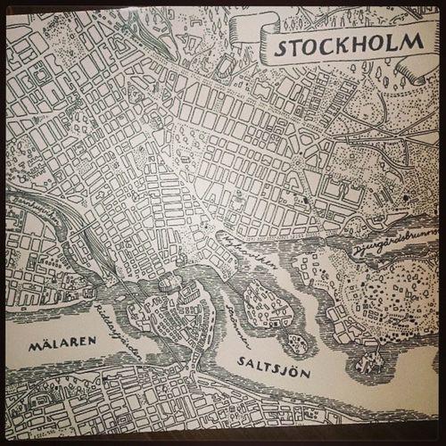 Fina underlägg! Tack bror och @pannahoj Stockholmskartan Joseffrank Svensktenn