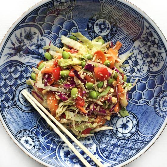 Dinner Food Photography Food Homemade Foodporn Asian Slaw Salad Ginger Peanut Sauce Vegetables SLAW Side Dish Things I Like