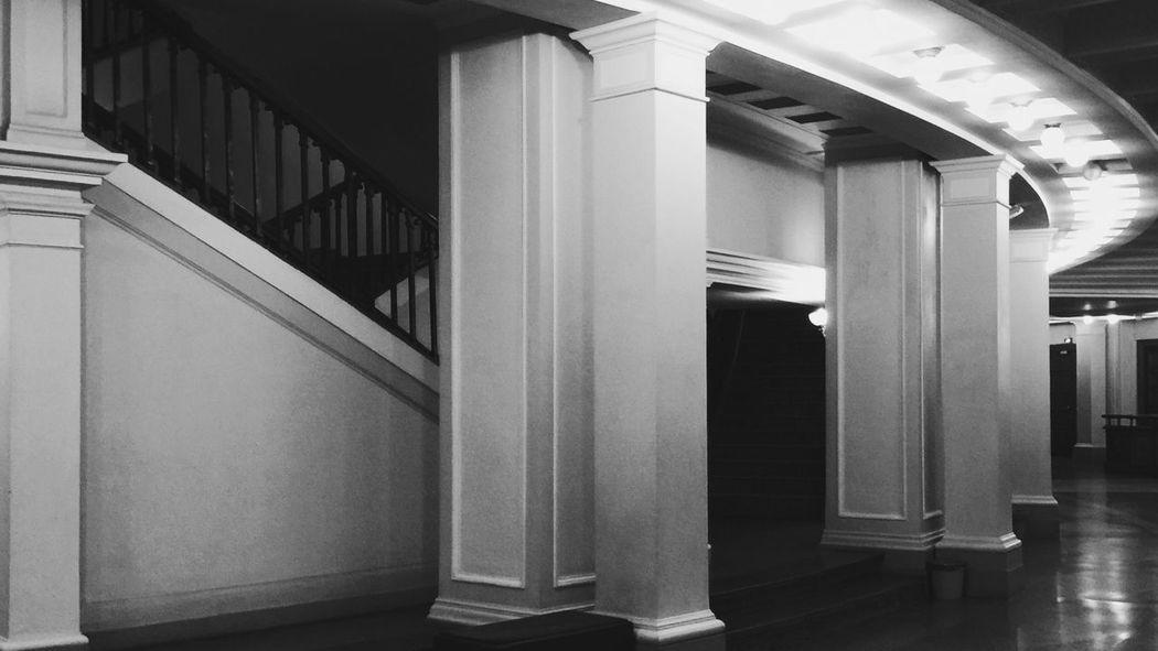 Novosibirsk Opera House Soviet Architecture Interior Greatness Siberia Isolation EyeEm Best Shots - Black + White Black And White Photography Solitude