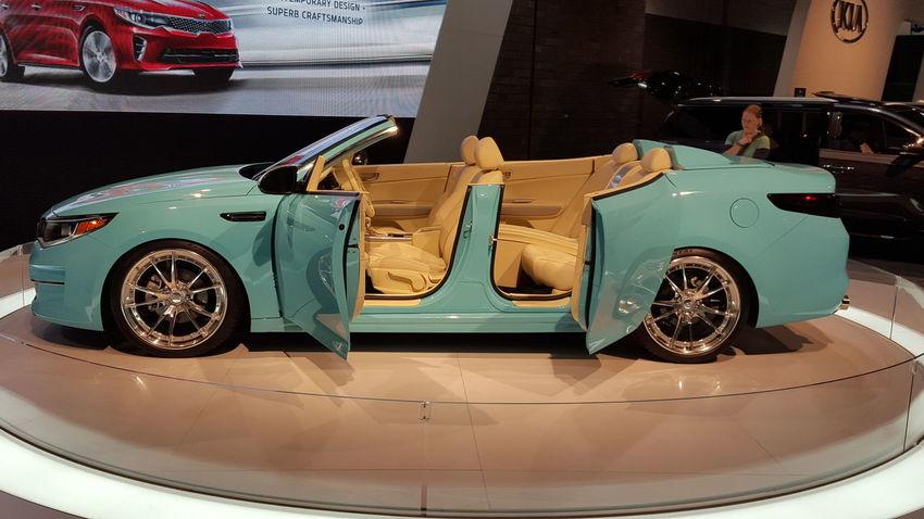 Atlanta Taking PhotosSamsung Galaxy S6 AJC International Car Show Blue Kia Car