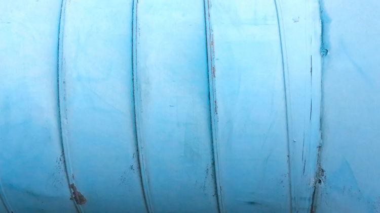 Blue Pipe - Tube Pipelines Showcase: February This Week On Eyeem Patternseverywhere Patterns I See Minimalism Minimalist Wallpaper EyeEm Gallery Shades Of Blue Pastel Power