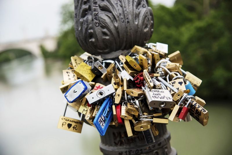 Forever Ponte Milvio Roma Romantic Abundance Amazing Close-up Day Emotion Focus On Foreground Large Group Of Objects Lock Love Love Lock Lucchetti D'amore Luck Message Metal Nature No People Outdoors Padlock Positive Emotion Protection Railing Safety Security